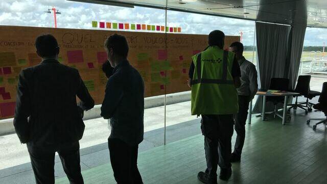 Atelier employés de la plateforme aéroportuaire